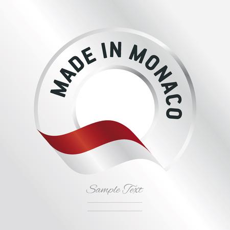 monaco: Made in Monaco transparent logo icon silver background
