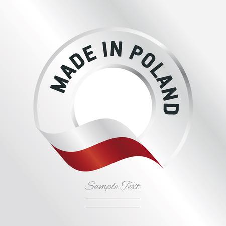 poland: Made in Poland transparent logo icon silver background