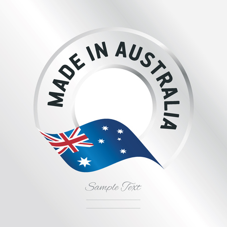australia stamp: Made in Australia transparent logo icon silver background
