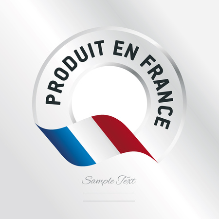 French Product (French language - Produit en France) 矢量图像