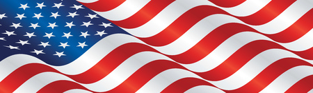 streamers: USA flag long drawn landscape background