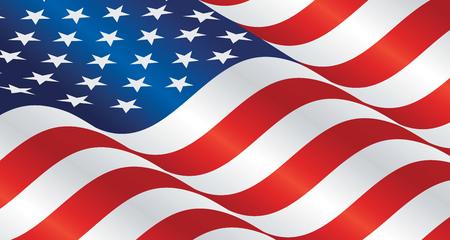 USA wavy flag landscape background