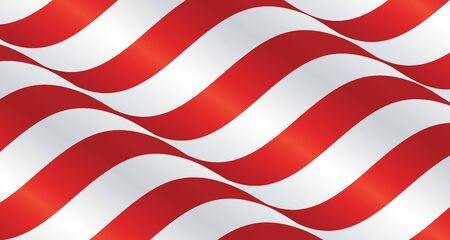streamers: USA wavy flag ribbon landscape background Illustration