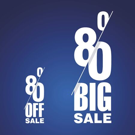 trade off: Big Sale 80 percent off two fold blue background