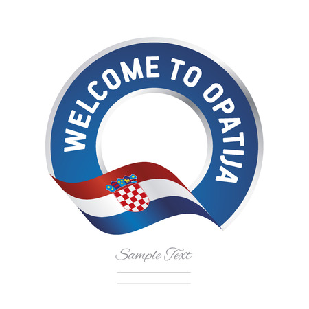 croatia: Welcome to Opatija Croatia flag logo icon