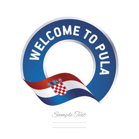 Welcome to Pula Croatia flag logo icon