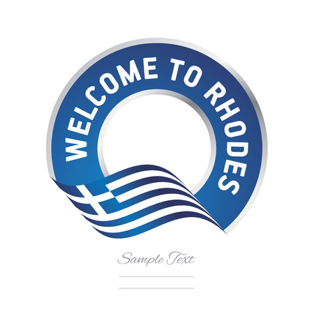 Welcome to Rhodes Greece flag logo icon