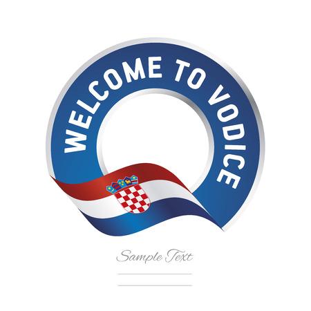 Welcome to Vodice Croatia flag logo icon Illustration