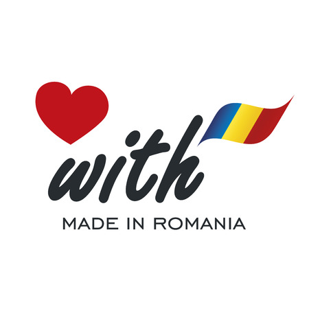 Love With Made in Romania logo icon Zdjęcie Seryjne - 82792813