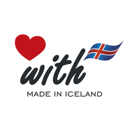 Love With Made in Iceland logo icon Illustration