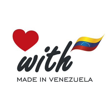 bandera de venezuela: Icono de logotipo de Love With Made in Venezuela