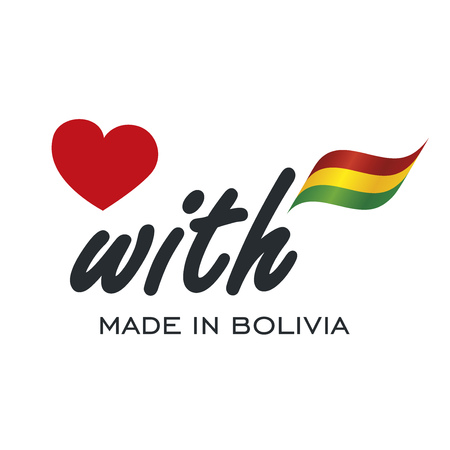 warranty: Love With Made in Bolivia logo icon Illustration