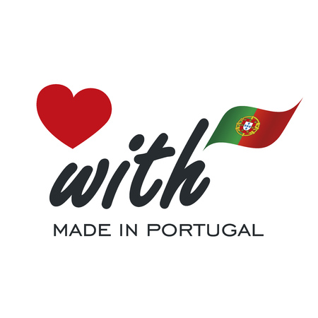 Love With Made in Portugal logo icon Ilustracja