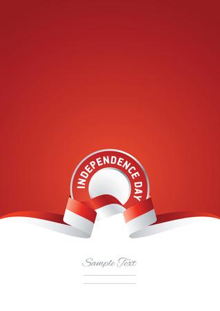 インドネシア独立記念日リボン赤背景