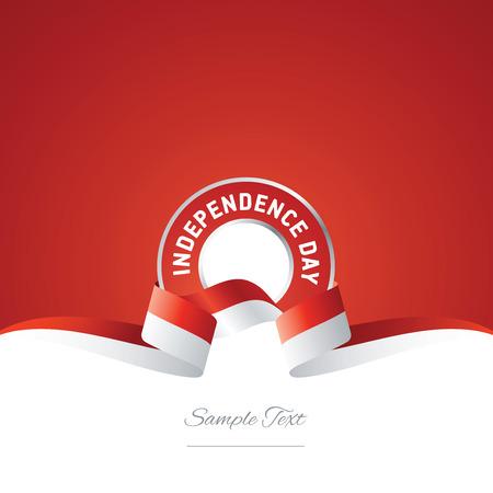 インドネシア独立記念日リボン ロゴ アイコン