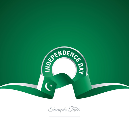 14th: Pakistan Independence Day ribbon logo icon