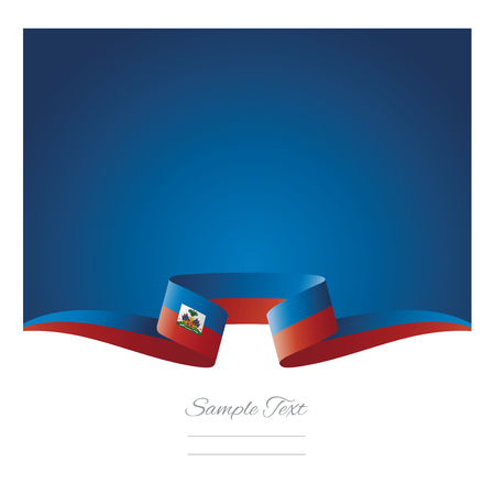 Abstract background Haiti flag ribbon