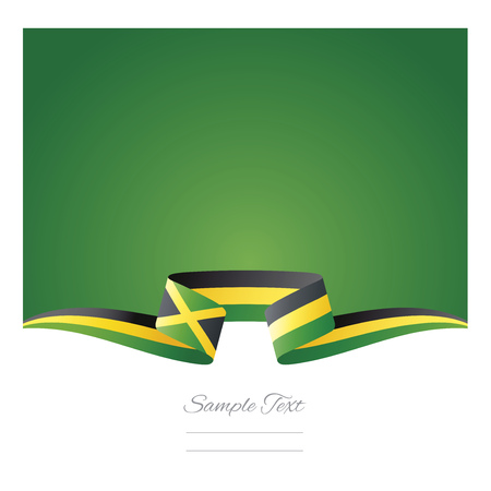 Abstract background Jamaica flag ribbon