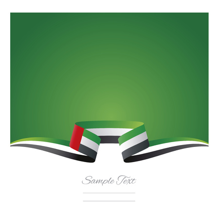 Abstract background UAE flag ribbon
