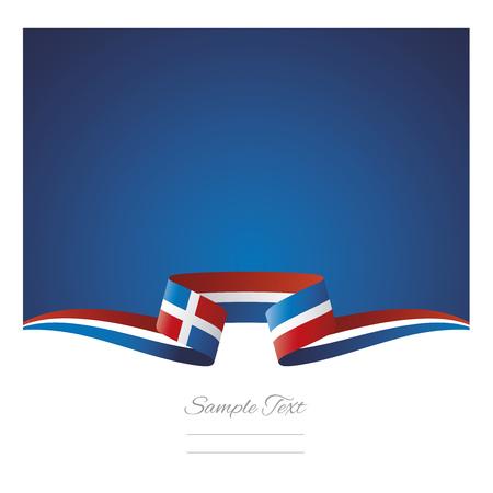 추상적 인 배경 도미니카 공화국 플래그 리본