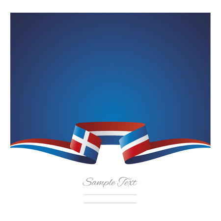 Abstract background Dominican Republic flag ribbon