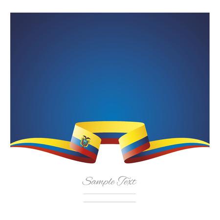 Abstract background Ecuador flag ribbon