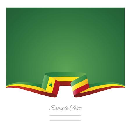 Abstract background Senegal flag ribbon Ilustracja
