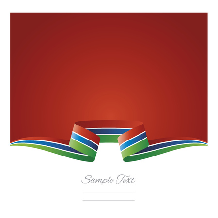 Abstract background Gambia flag ribbon Illustration