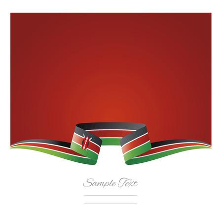 Abstract background Kenya flag ribbon Иллюстрация