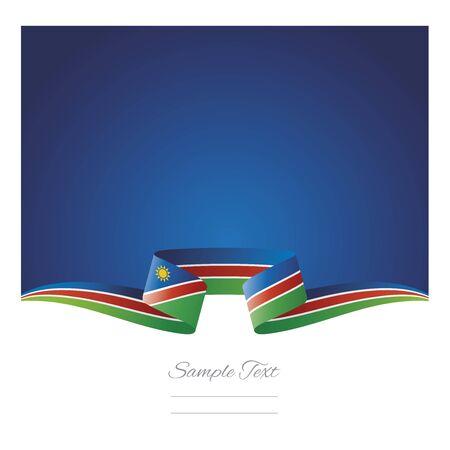 Abstract background Namibia flag ribbon