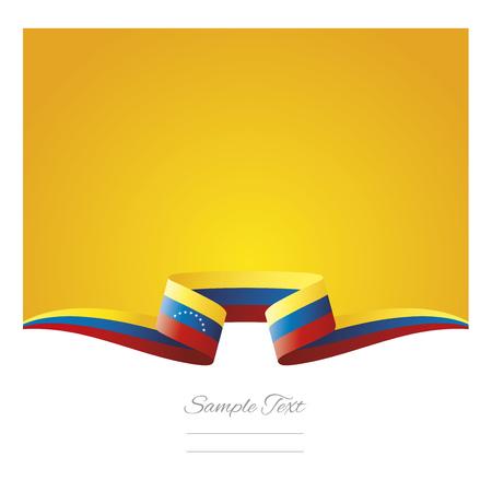 Abstract background Venezuela flag ribbon 向量圖像