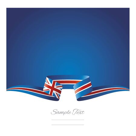 Abstract background UK flag ribbon