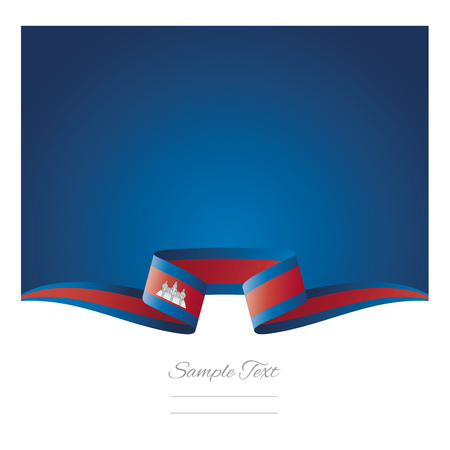 Abstract background Cambodia flag ribbon