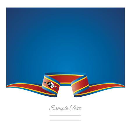 Abstract background Swaziland flag ribbon
