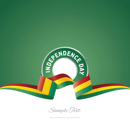 Guinea Independence Day ribbon logo icon
