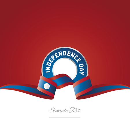 laotian: Laos Independence Day ribbon logo icon