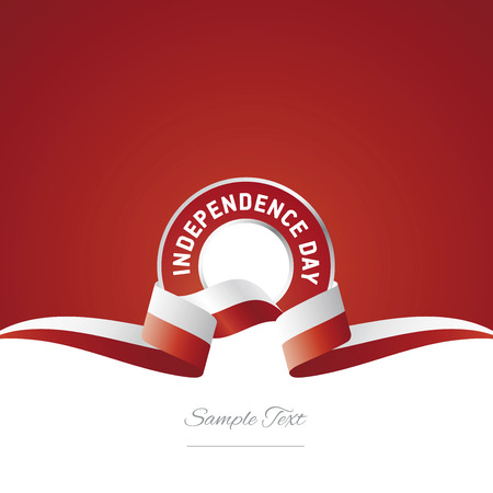 Poland Independence Day ribbon logo icon