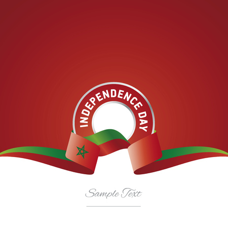 Morocco Independence Day ribbon logo icon