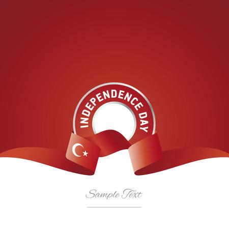 Turkish Independence Day ribbon logo icon Illustration
