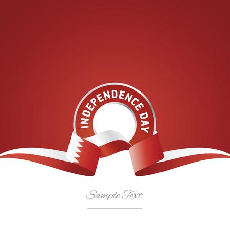 Bahrain Independence Day ribbon logo icon