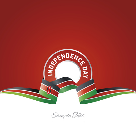 Kenya Independence Day ribbon logo icon