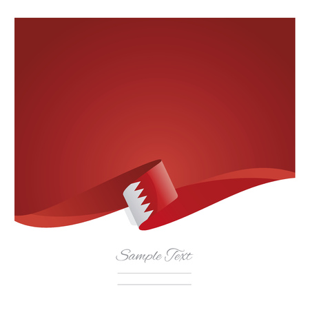 New abstract Bahrain flag ribbon banner vector