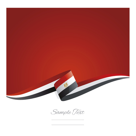 New abstract Egypt flag ribbon banner vector