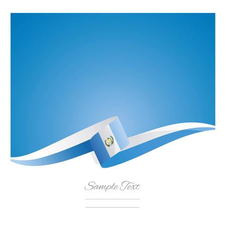 New abstract Guatemala flag ribbon banner vector