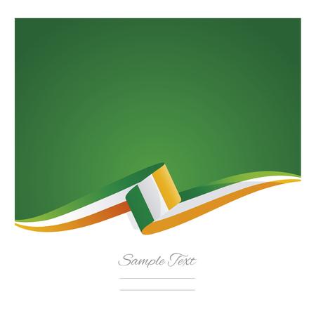 New abstract Ireland flag ribbon banner vector