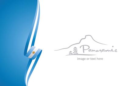 Argentinien abstrakte Flagge Broschüre Cover Poster Hintergrund Vektor Vektorgrafik