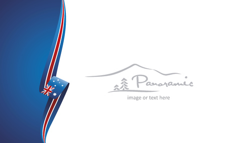 Australia abstract flag brochure cover poster background vector