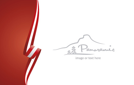 Austria abstract flag brochure cover poster background vector