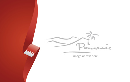Bahrain abstract flag brochure cover poster background vector