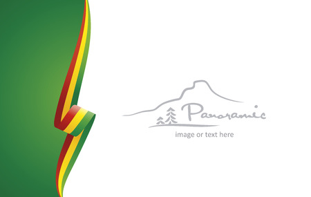 Bolivia abstract brochure cover poster background vector